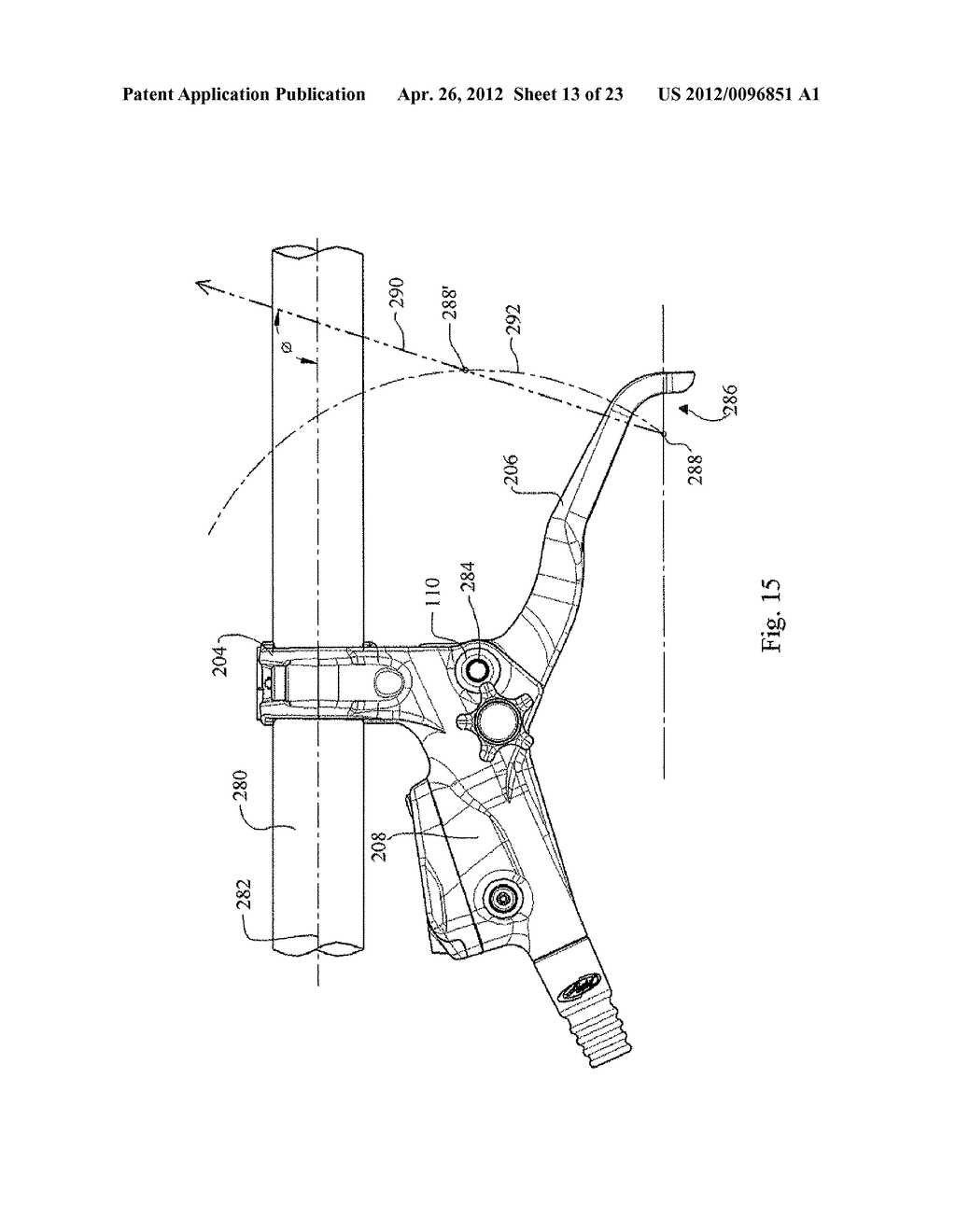 Master Cylinder Lever For A Bicycle Hydraulic Disc Brake Diagram