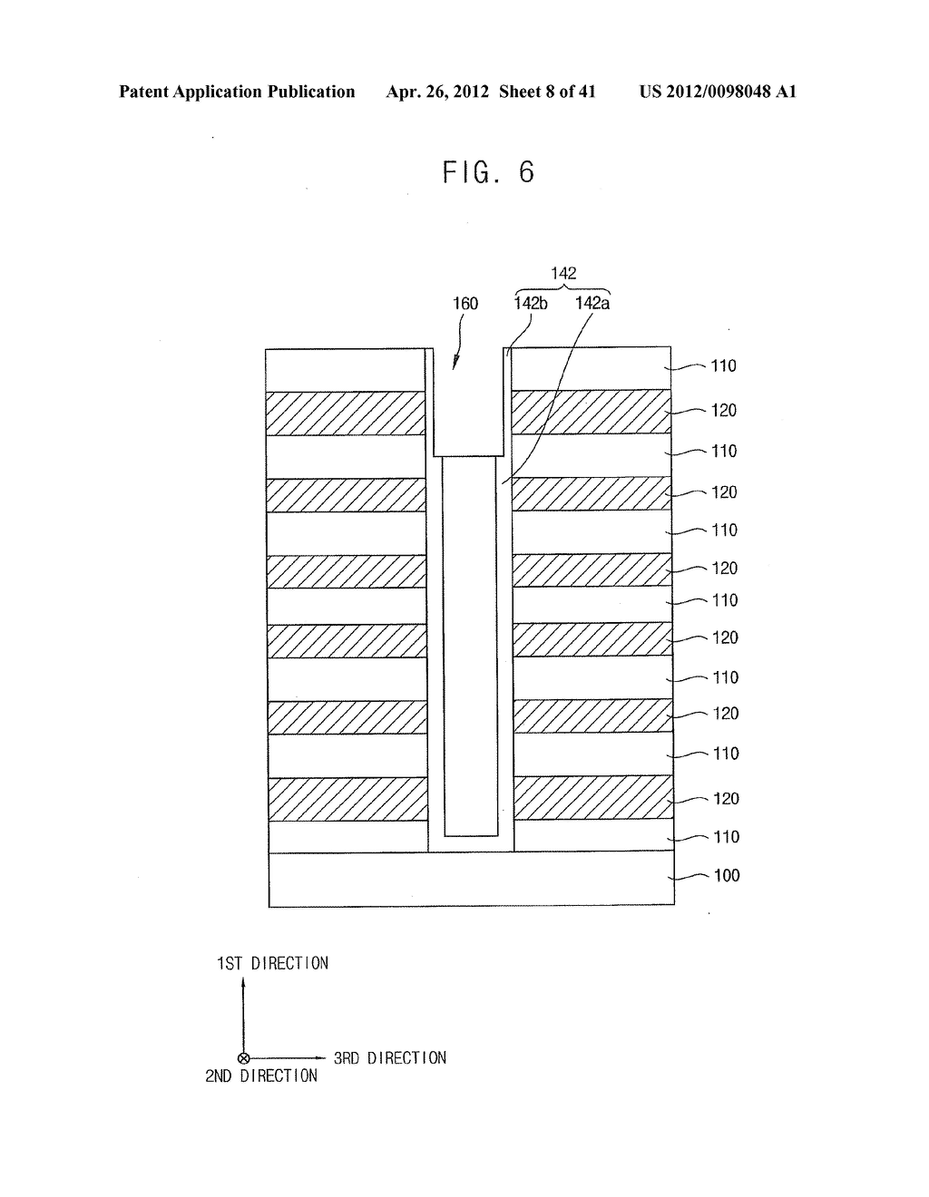 VERTICAL MEMORY DEVICES AND METHODS OF MANUFACTURING THE SAME - diagram, schematic, and image 09