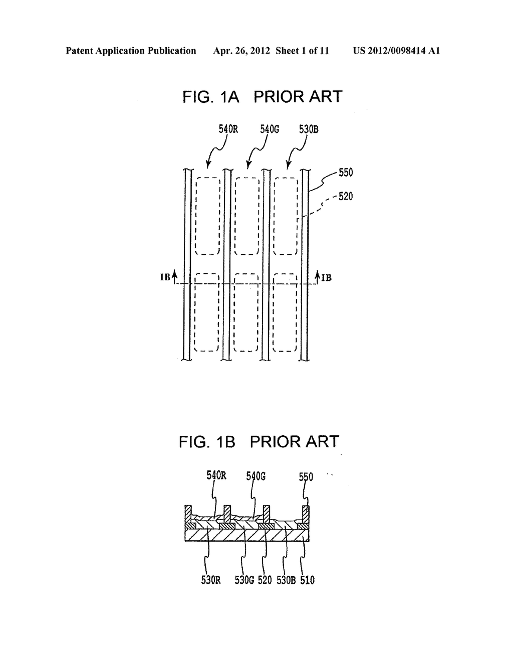FLAT PANEL DISPLAY, INTERMEDIATE MANUFACTURED PRODUCT AND METHOD OF     MANUFACTURING SAME - diagram, schematic, and image 02