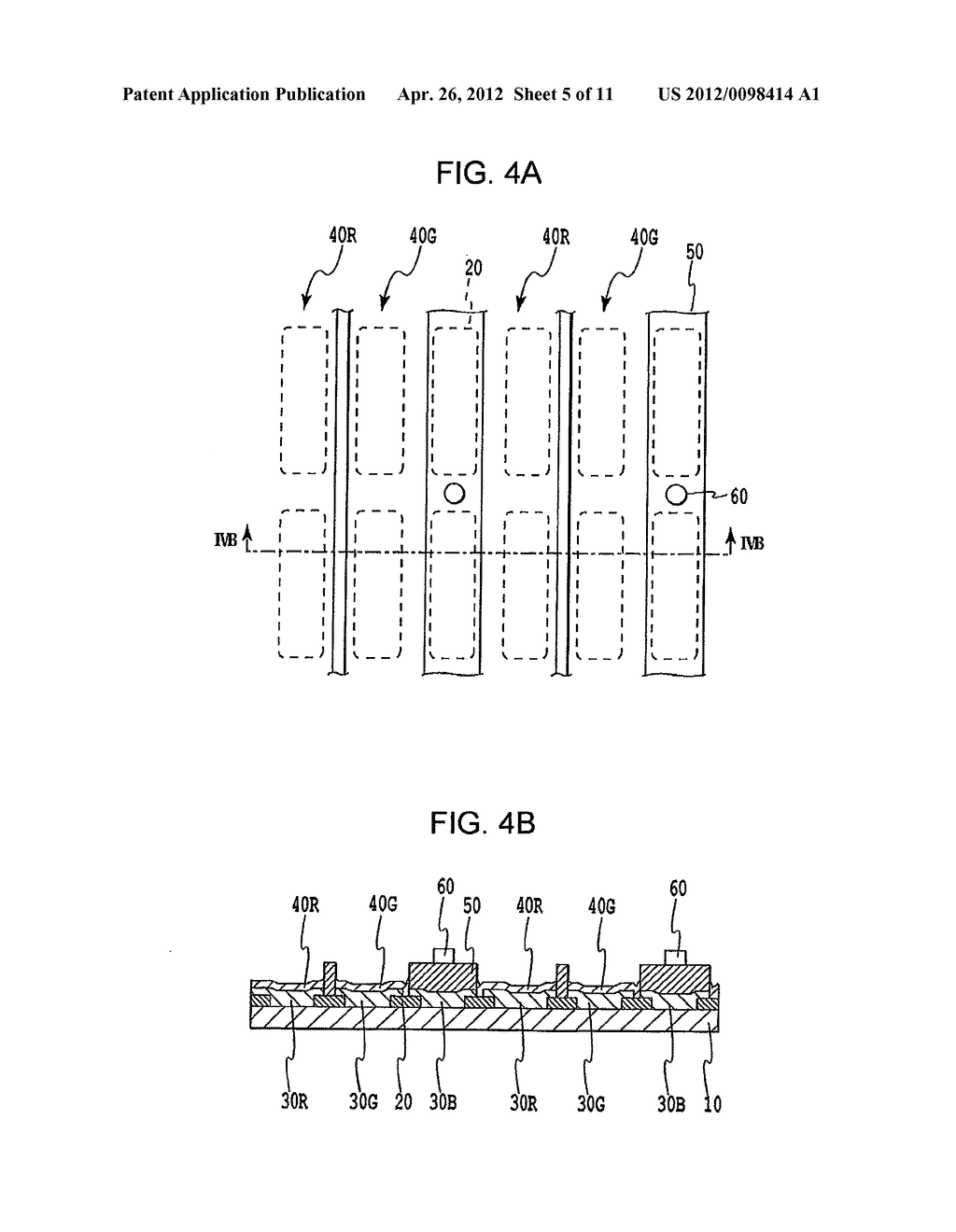 FLAT PANEL DISPLAY, INTERMEDIATE MANUFACTURED PRODUCT AND METHOD OF     MANUFACTURING SAME - diagram, schematic, and image 06