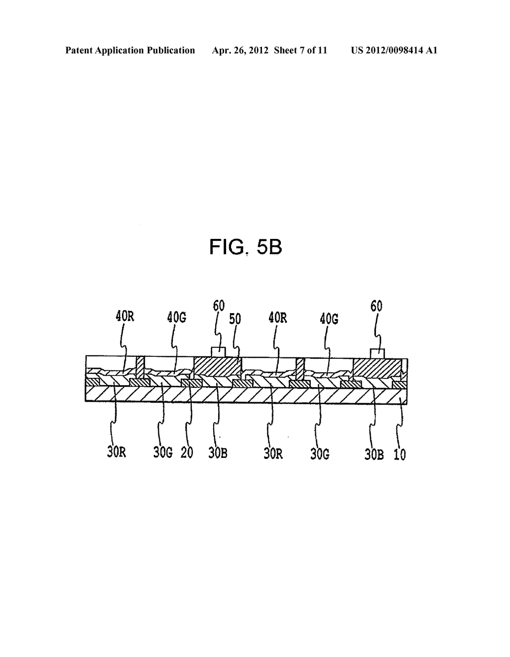 FLAT PANEL DISPLAY, INTERMEDIATE MANUFACTURED PRODUCT AND METHOD OF     MANUFACTURING SAME - diagram, schematic, and image 08
