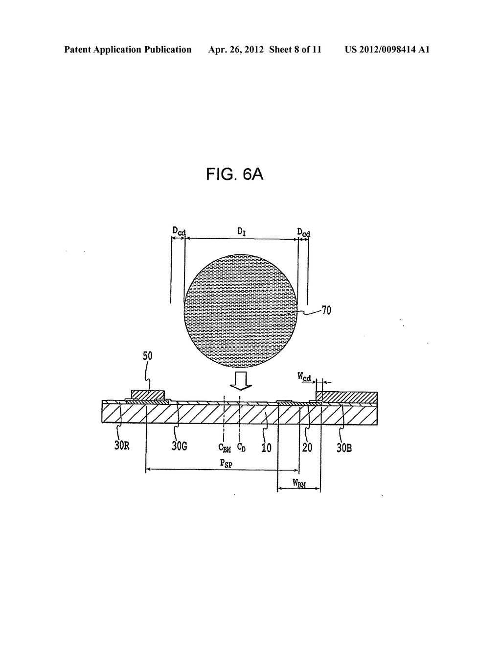 FLAT PANEL DISPLAY, INTERMEDIATE MANUFACTURED PRODUCT AND METHOD OF     MANUFACTURING SAME - diagram, schematic, and image 09