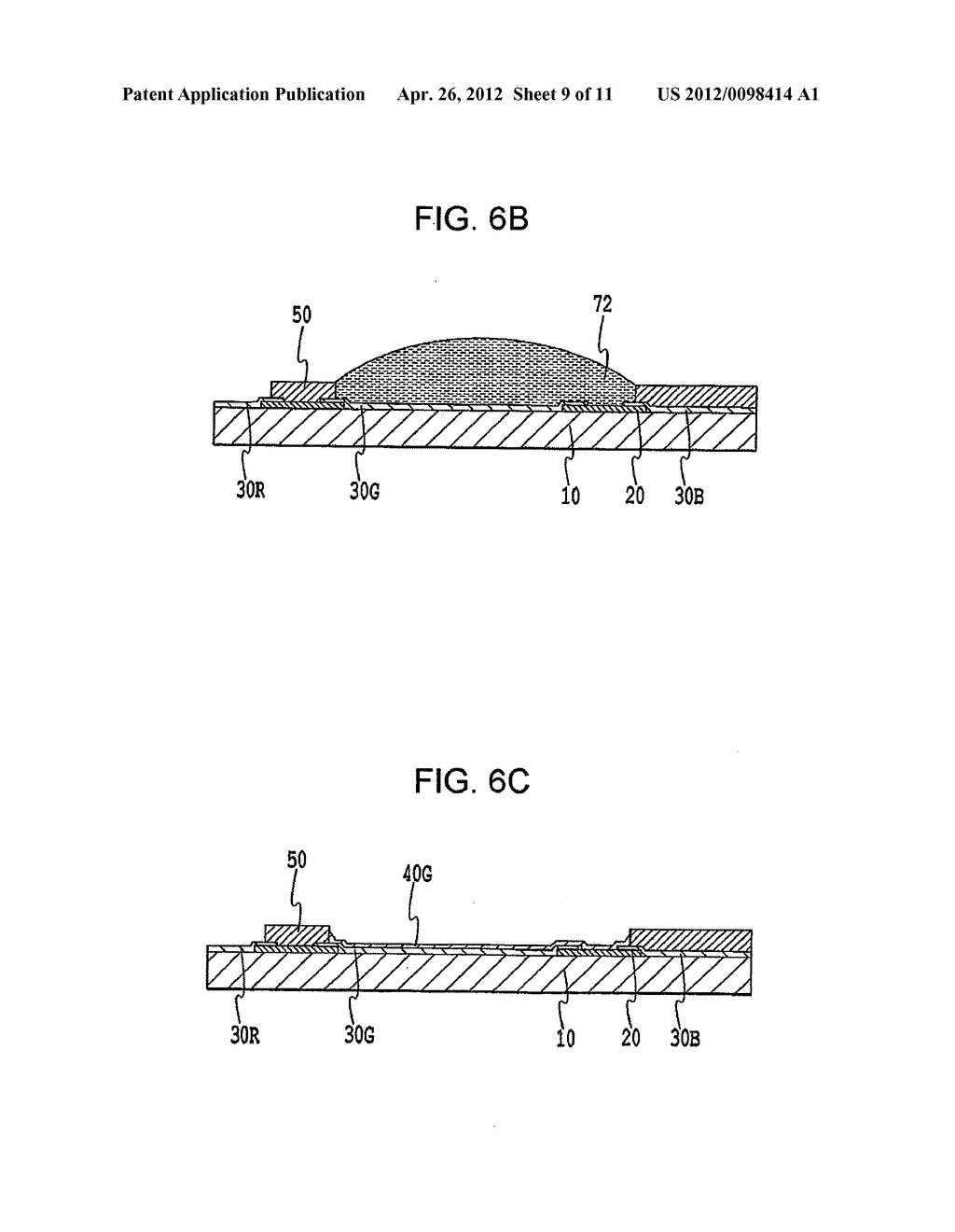 FLAT PANEL DISPLAY, INTERMEDIATE MANUFACTURED PRODUCT AND METHOD OF     MANUFACTURING SAME - diagram, schematic, and image 10