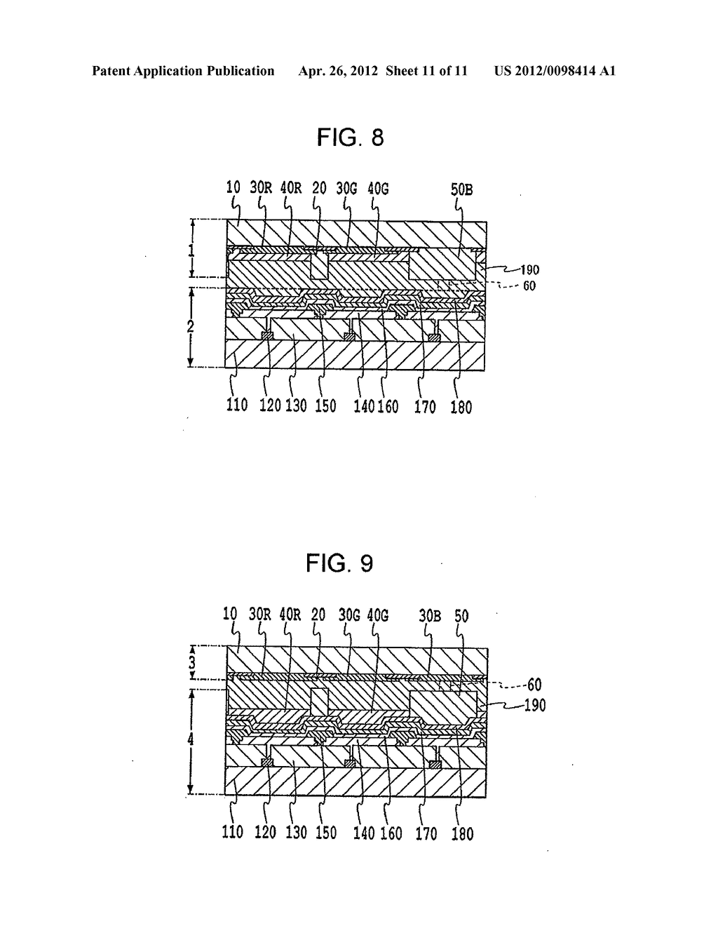 FLAT PANEL DISPLAY, INTERMEDIATE MANUFACTURED PRODUCT AND METHOD OF     MANUFACTURING SAME - diagram, schematic, and image 12