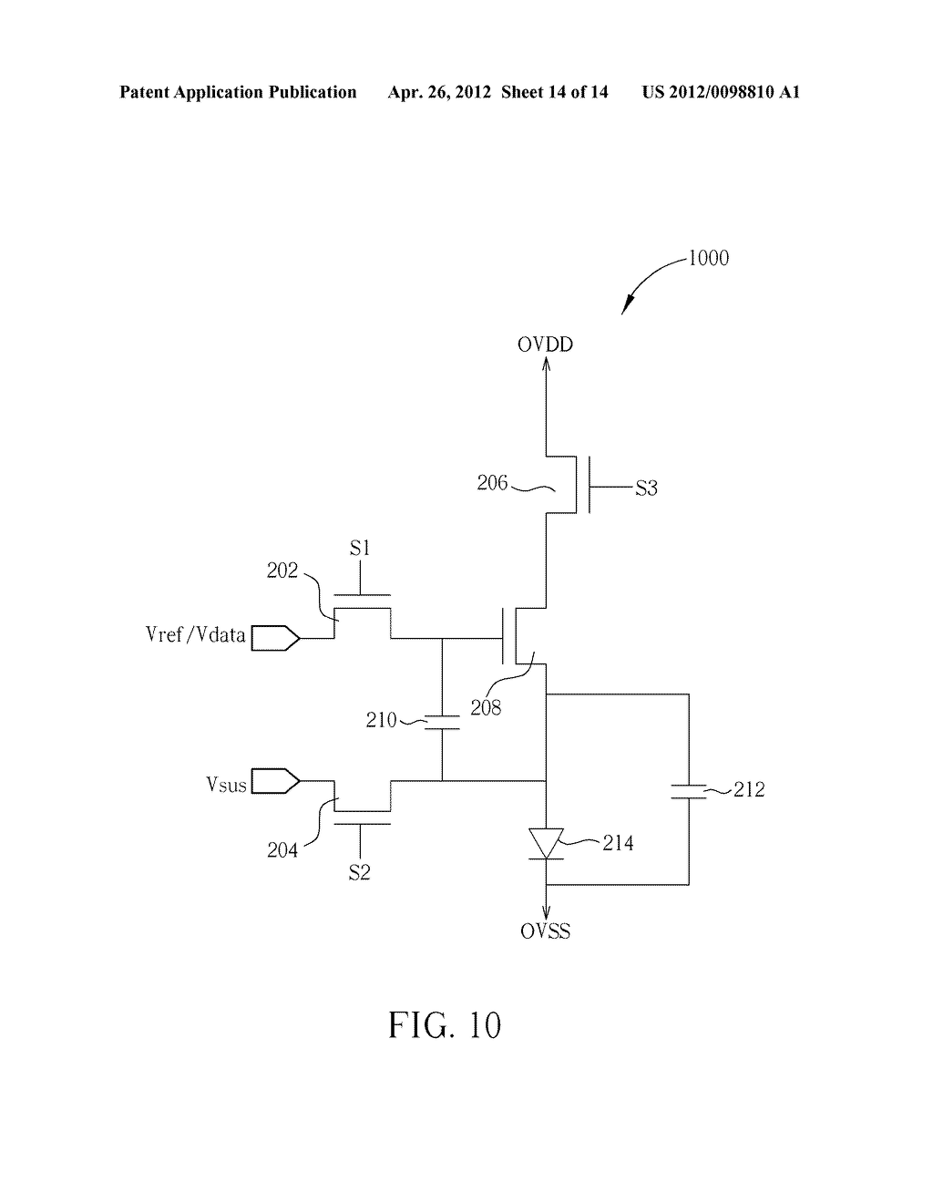 DRIVING CIRCUIT FOR PIXELS OF AN ACTIVE MATRIX ORGANIC LIGHT-EMITTING     DIODE DISPLAY AND METHOD FOR DRIVING PIXELS OF AN ACTIVE MATRIX ORGANIC     LIGHT-EMITTING DIODE DISPLAY - diagram, schematic, and image 15