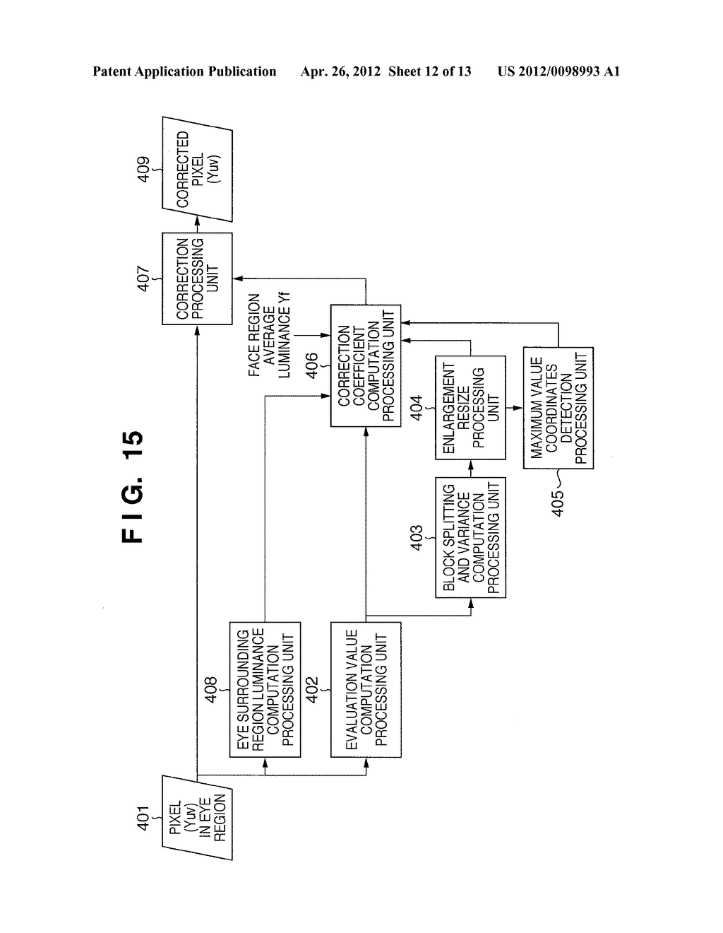 IMAGE PROCESSING APPARATUS AND IMAGE PROCESSING METHOD AND IMAGE CAPTURING     APPARATUS - diagram, schematic, and image 13