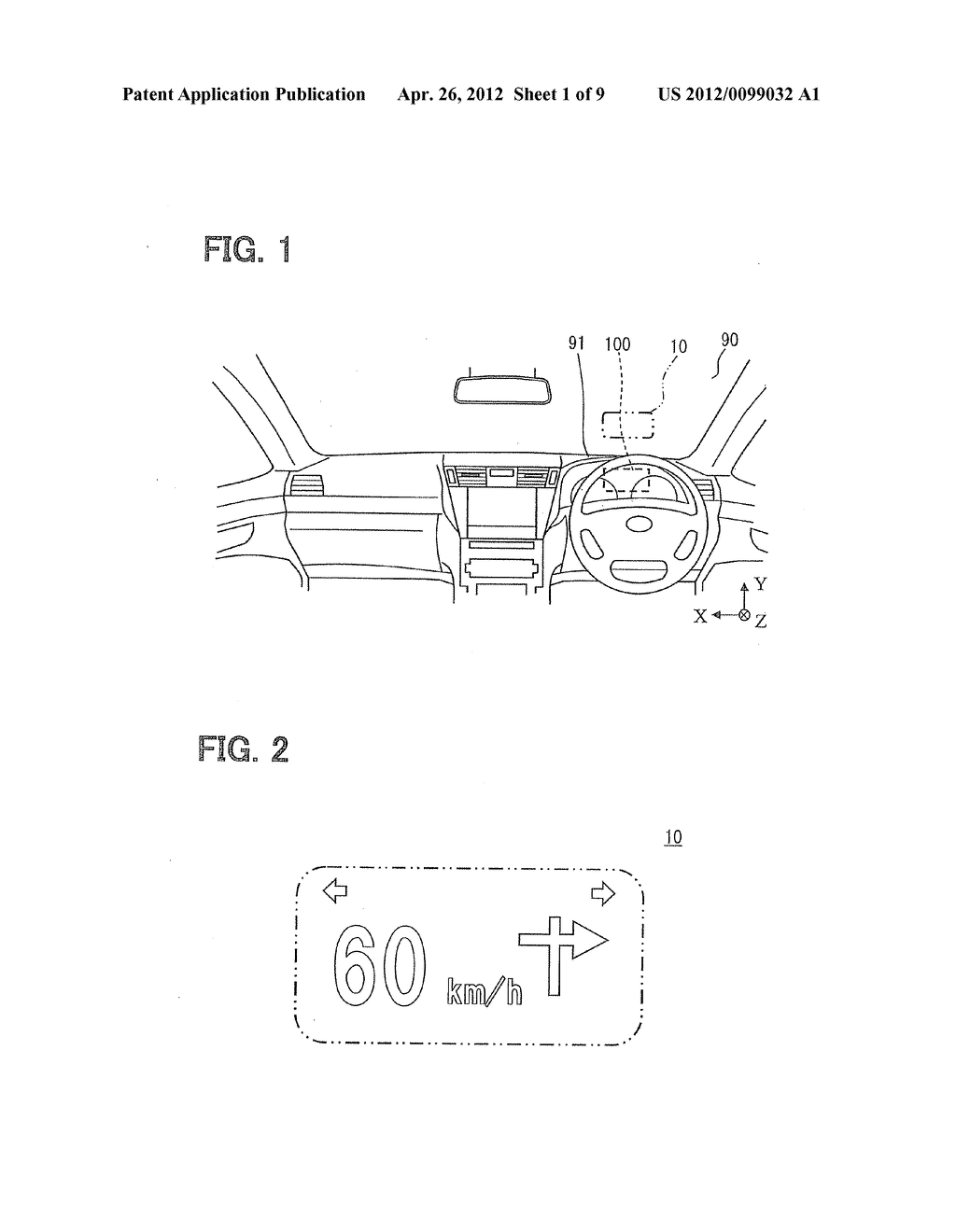 HEAD-UP DISPLAY DEVICE FOR PROJECTING IMAGE ON SCREEN - diagram, schematic, and image 02