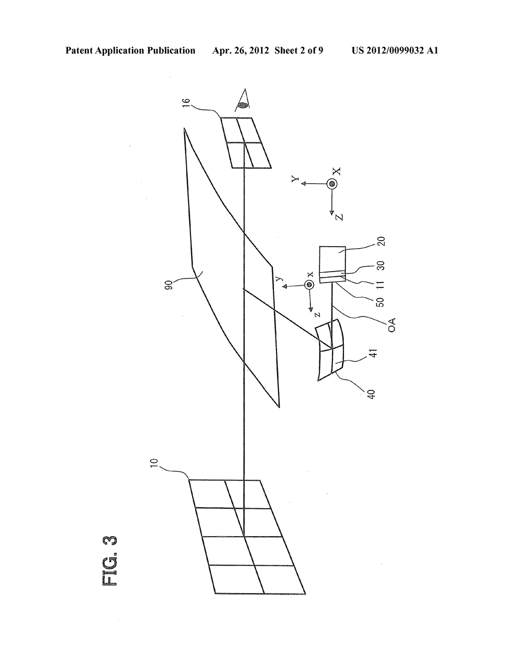 HEAD-UP DISPLAY DEVICE FOR PROJECTING IMAGE ON SCREEN - diagram, schematic, and image 03