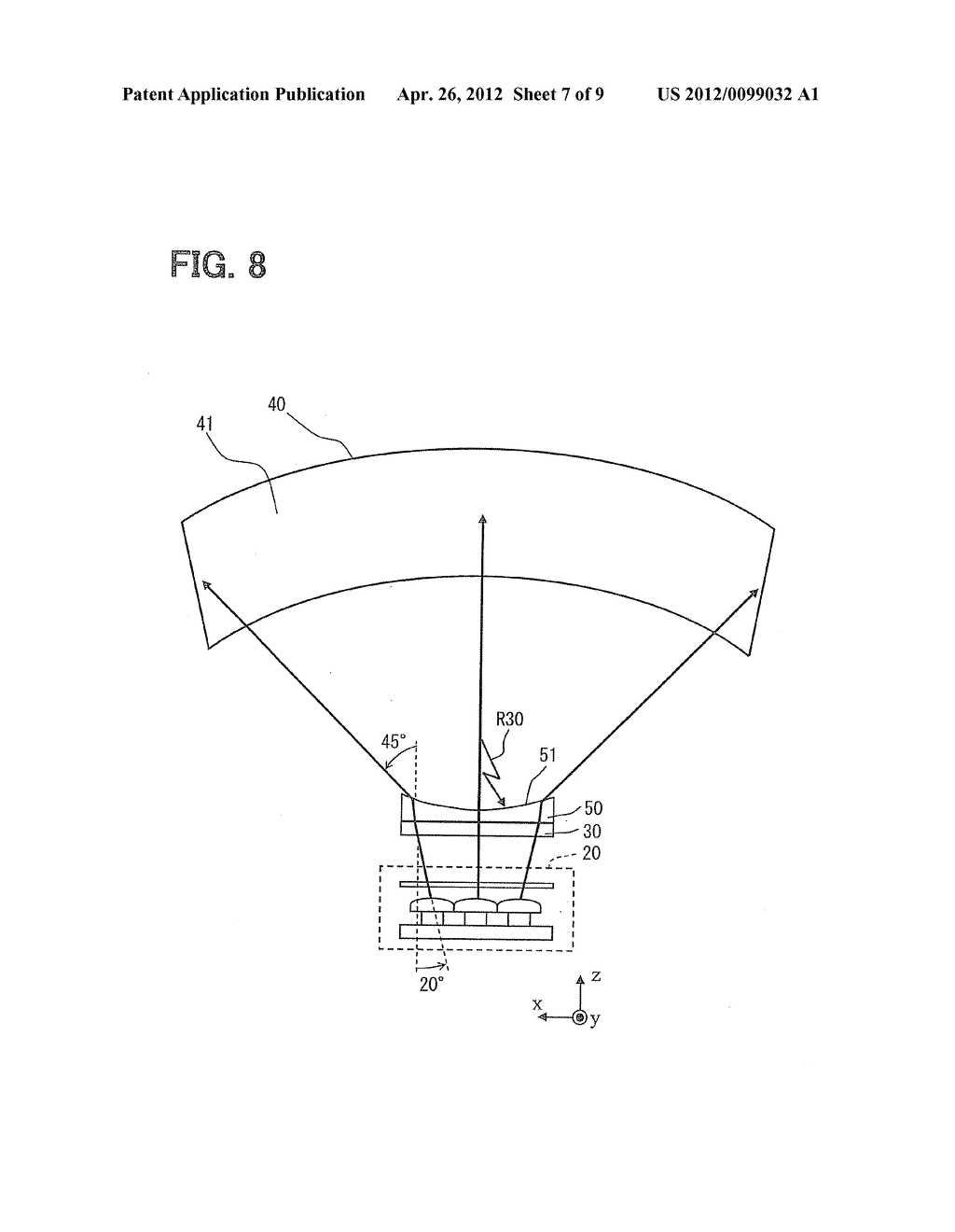 HEAD-UP DISPLAY DEVICE FOR PROJECTING IMAGE ON SCREEN - diagram, schematic, and image 08