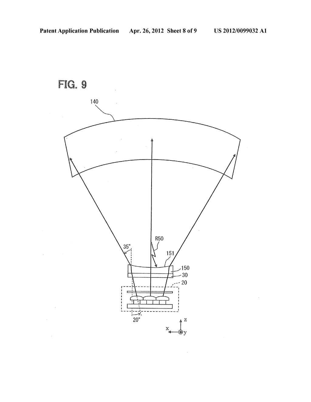 HEAD-UP DISPLAY DEVICE FOR PROJECTING IMAGE ON SCREEN - diagram, schematic, and image 09