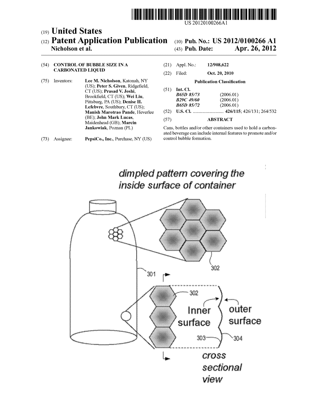 CONTROL OF BUBBLE SIZE IN A CARBONATED LIQUID - diagram, schematic, and image 01