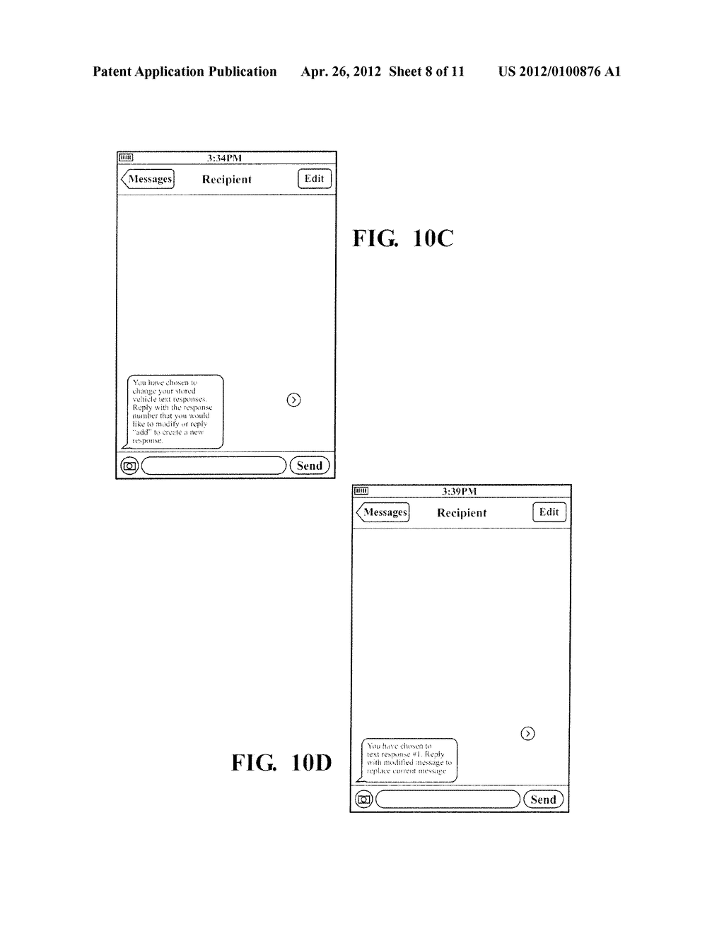 HANDS FREE TELEPHONE SYSTEM WITH INTEGRATED TEXT MESSAGING CONFIGURATION - diagram, schematic, and image 09