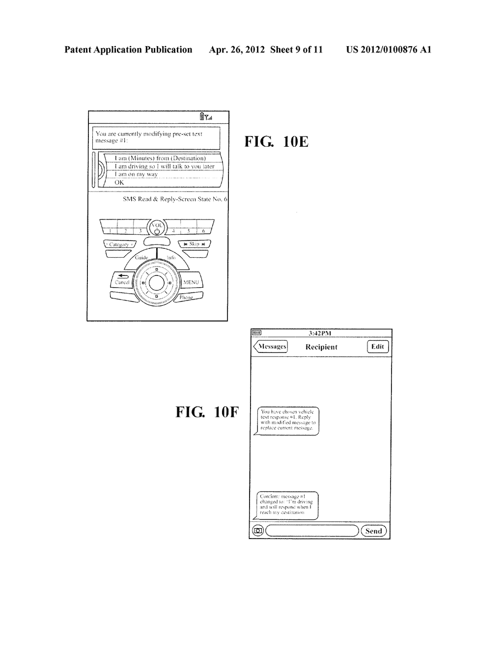 HANDS FREE TELEPHONE SYSTEM WITH INTEGRATED TEXT MESSAGING CONFIGURATION - diagram, schematic, and image 10