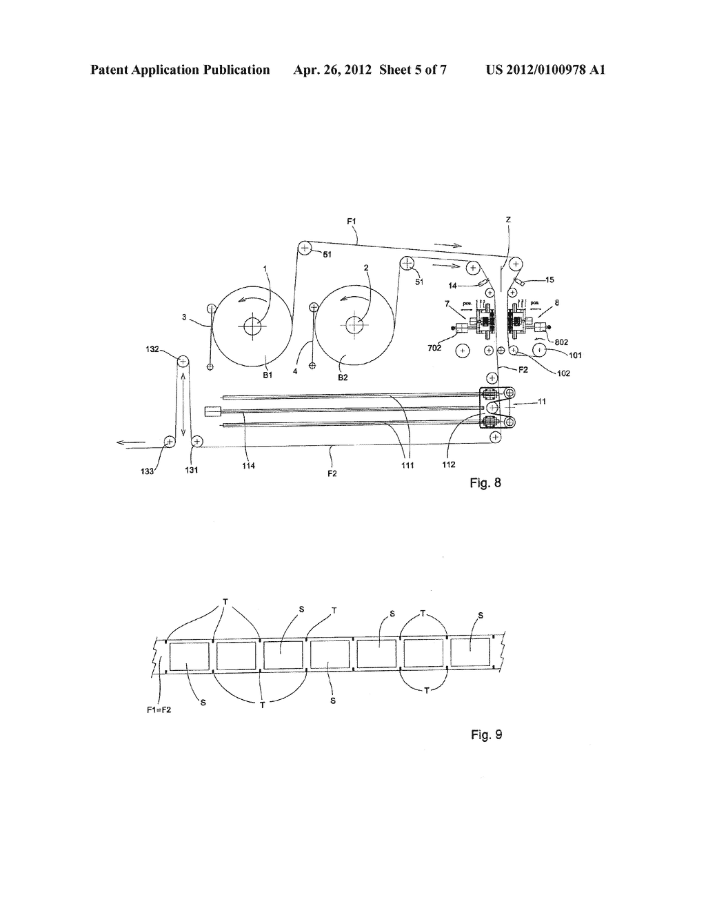 UNIT AND METHOD FOR FEEDING REELS OF A SHEET-LIKE MATERIAL, IN PARTICULAR     BUT NOT EXCLUSIVELY A PRINTED PLASTIC FILM WITH PRINT-POSITION MARKS FOR     AUTOMATIC PACKAGING MACHINES - diagram, schematic, and image 06