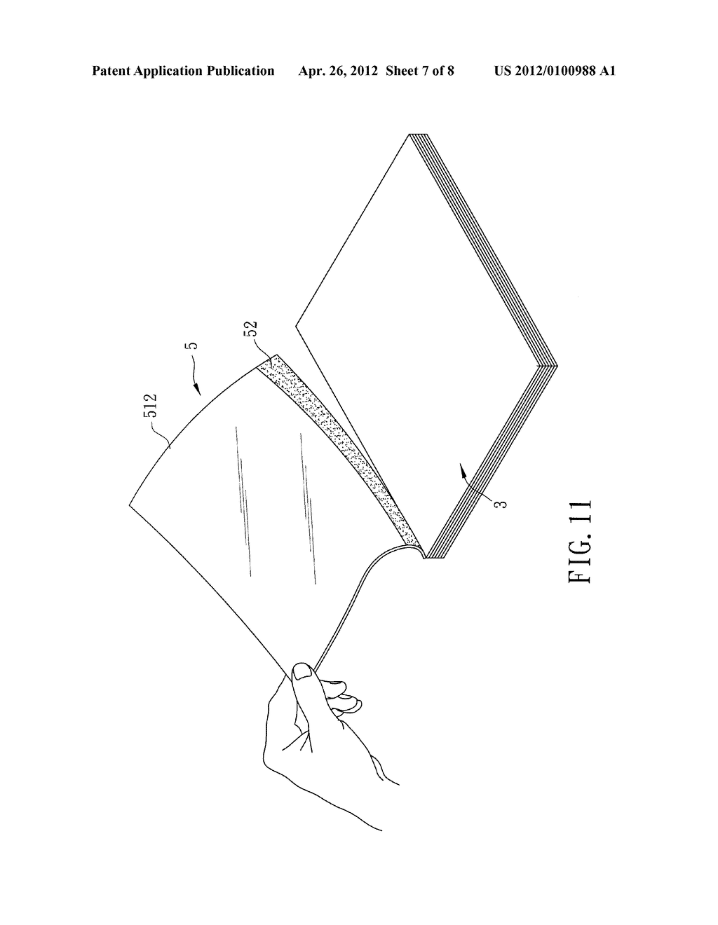 NOTE PAD CONTAINING CARBONLESS COLOR-DEVELOPING MATERIAL - diagram, schematic, and image 08