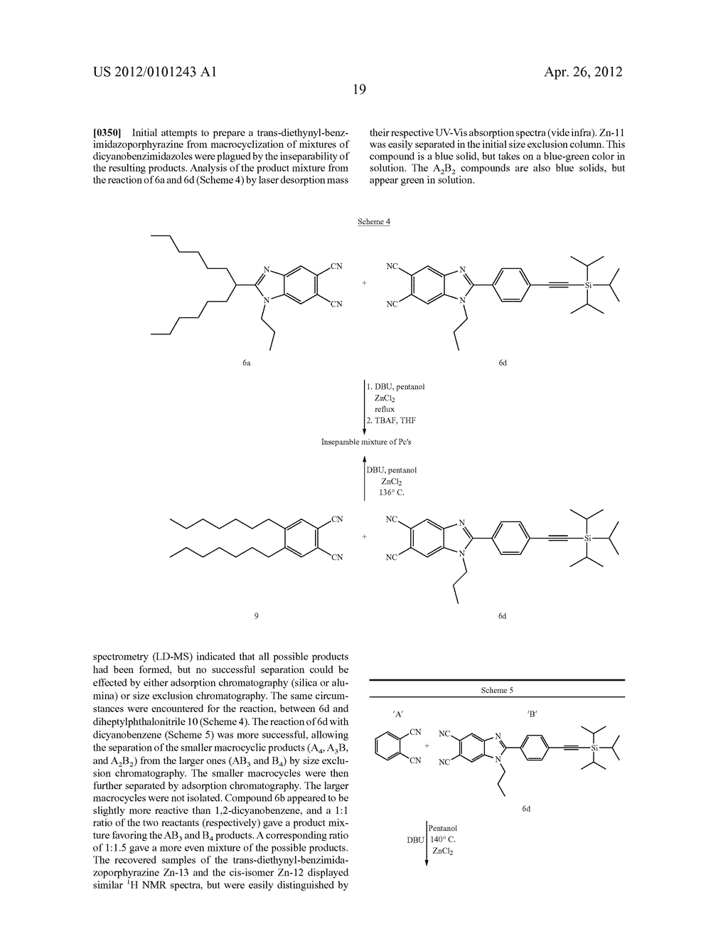 SUBSTITUTED BENZAZOLOPORPHYRAZINES FOR POLYMERIZATION AND SURFACE     ATTACHMENT AND ARTICLES FORMED THEREFROM - diagram, schematic, and image 26