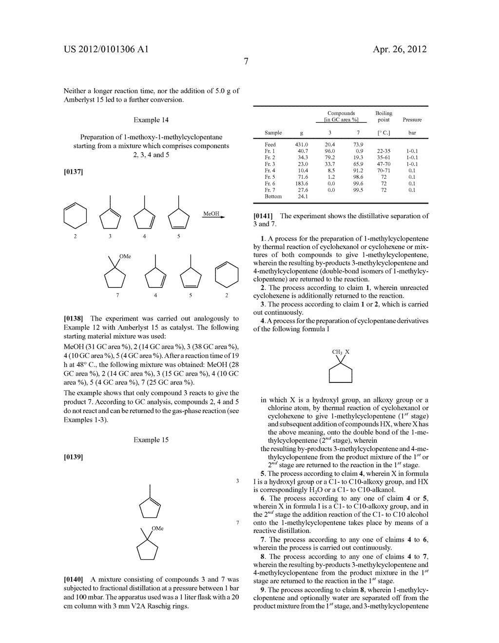 PROCESS FOR THE PREPARATION OF 1-METHYLCYCLOPENTANE DERIVATIVES - diagram, schematic, and image 09