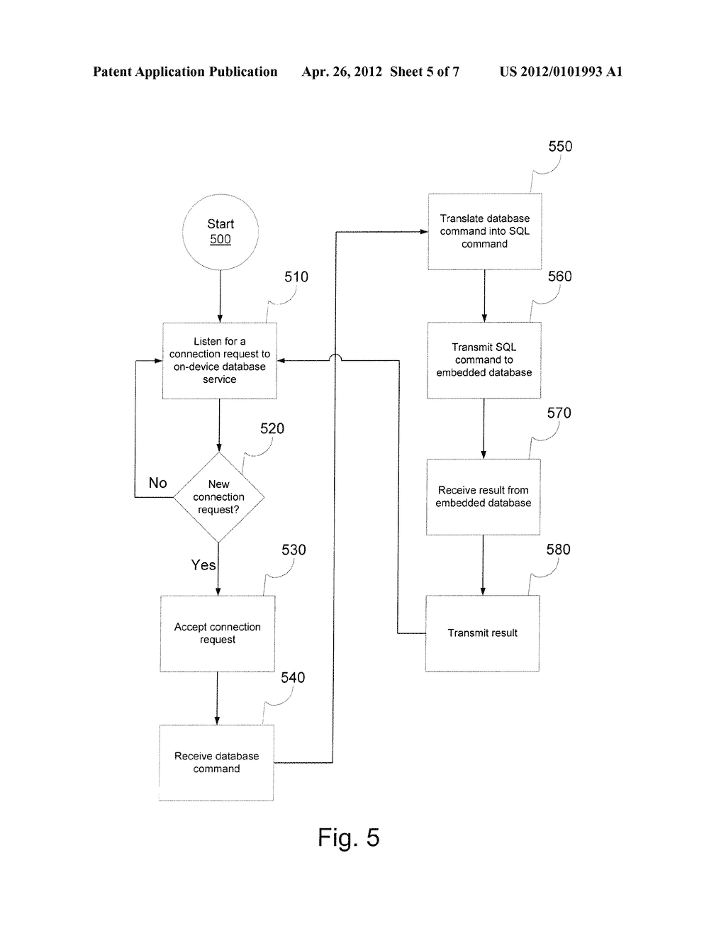 ON-DEVICE DATABASE SERVICE FOR MOBILE DEVICE - diagram, schematic, and image 06