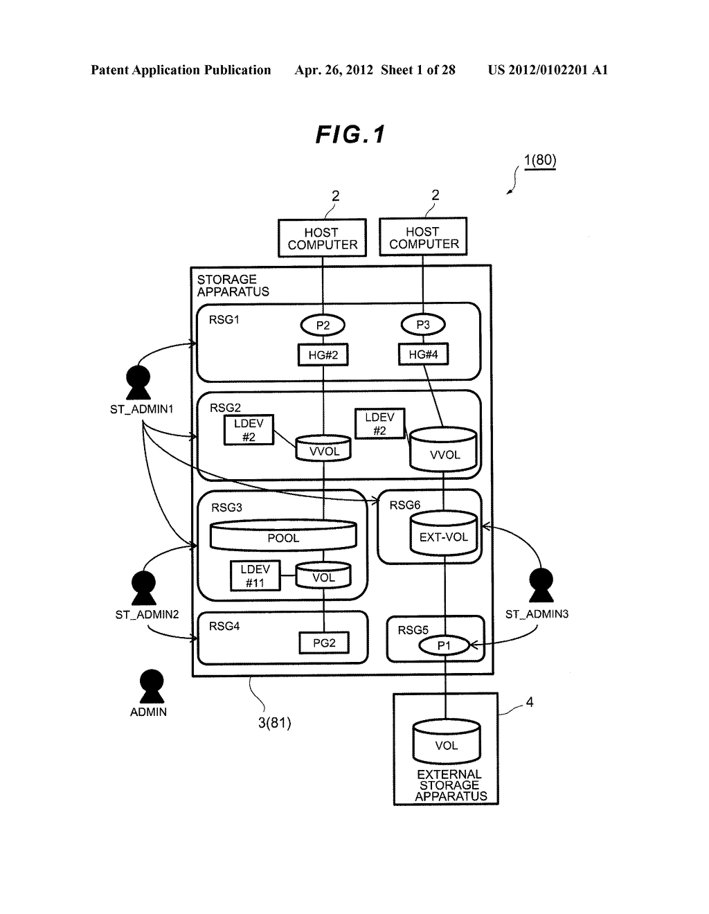 STORAGE APPARATUS AND MANAGEMENT METHOD THEREOF - diagram, schematic, and image 02