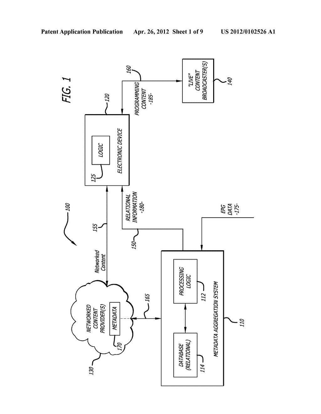 System and Method for Merging Network-Based Content with Broadcasted     Programming Content - diagram, schematic, and image 02