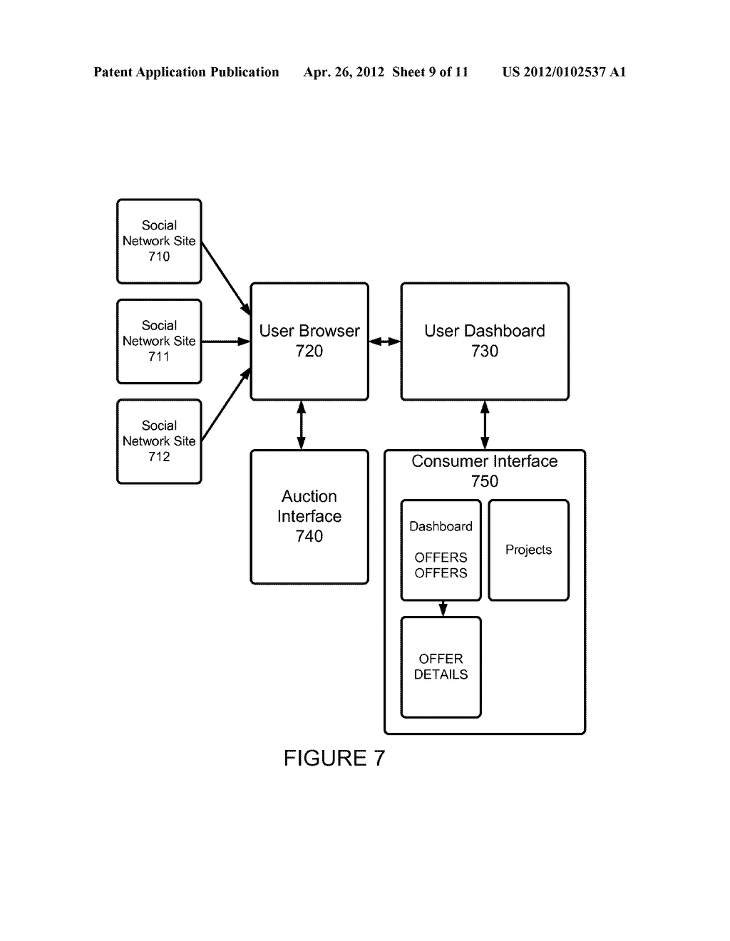 Method and Apparatus for Interaction Between Parties in a Commercial     Transaction - diagram, schematic, and image 10