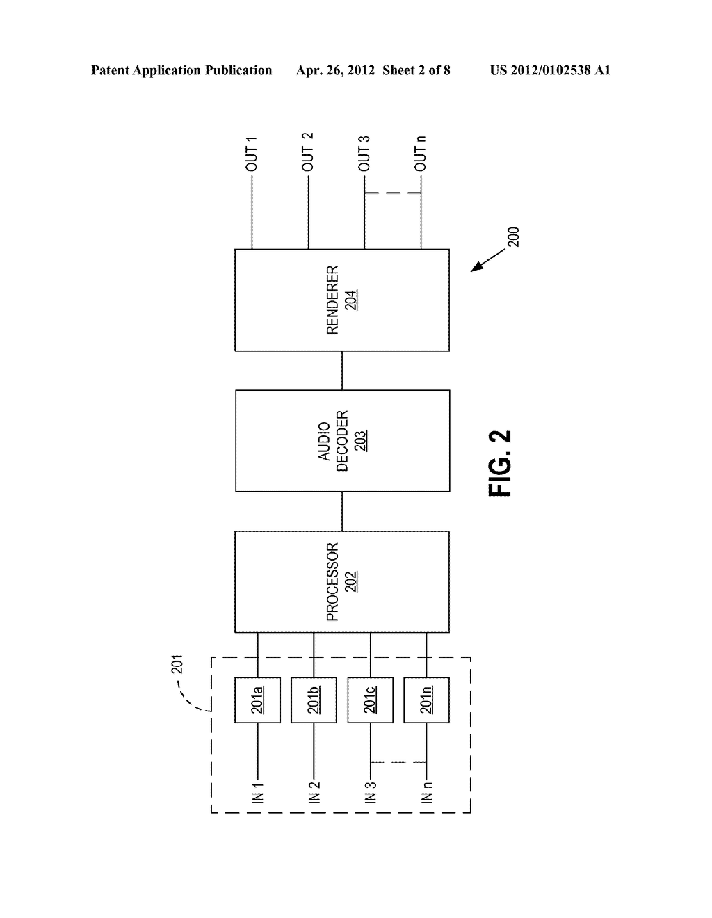 METHODS AND APPARATUS FOR DECODING MULTIPLE INDEPENDENT AUDIO STREAMS     USING A SINGLE AUDIO DECODER - diagram, schematic, and image 03