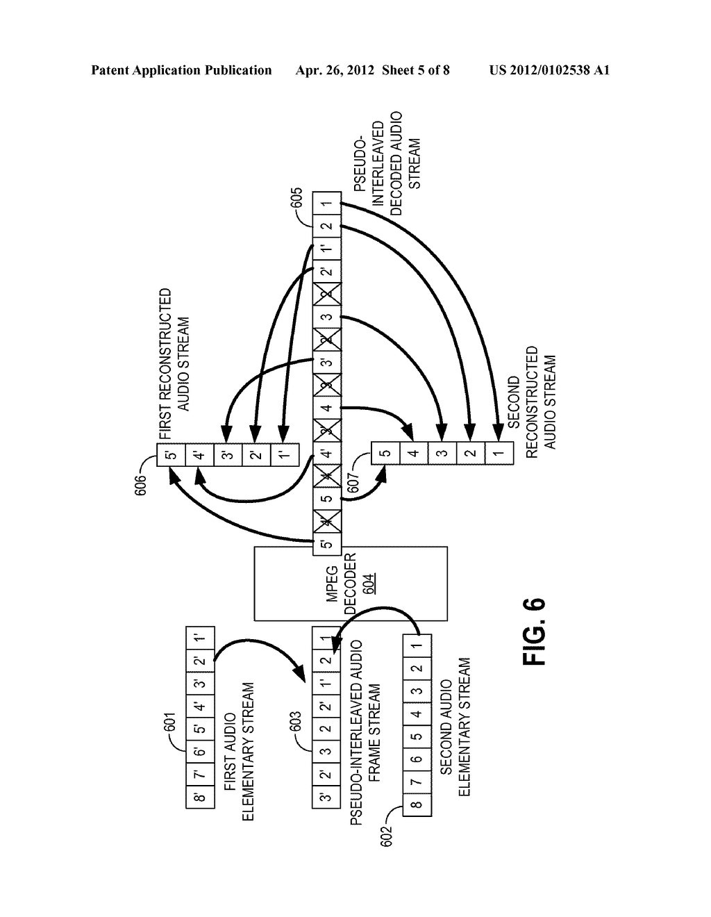 METHODS AND APPARATUS FOR DECODING MULTIPLE INDEPENDENT AUDIO STREAMS     USING A SINGLE AUDIO DECODER - diagram, schematic, and image 06