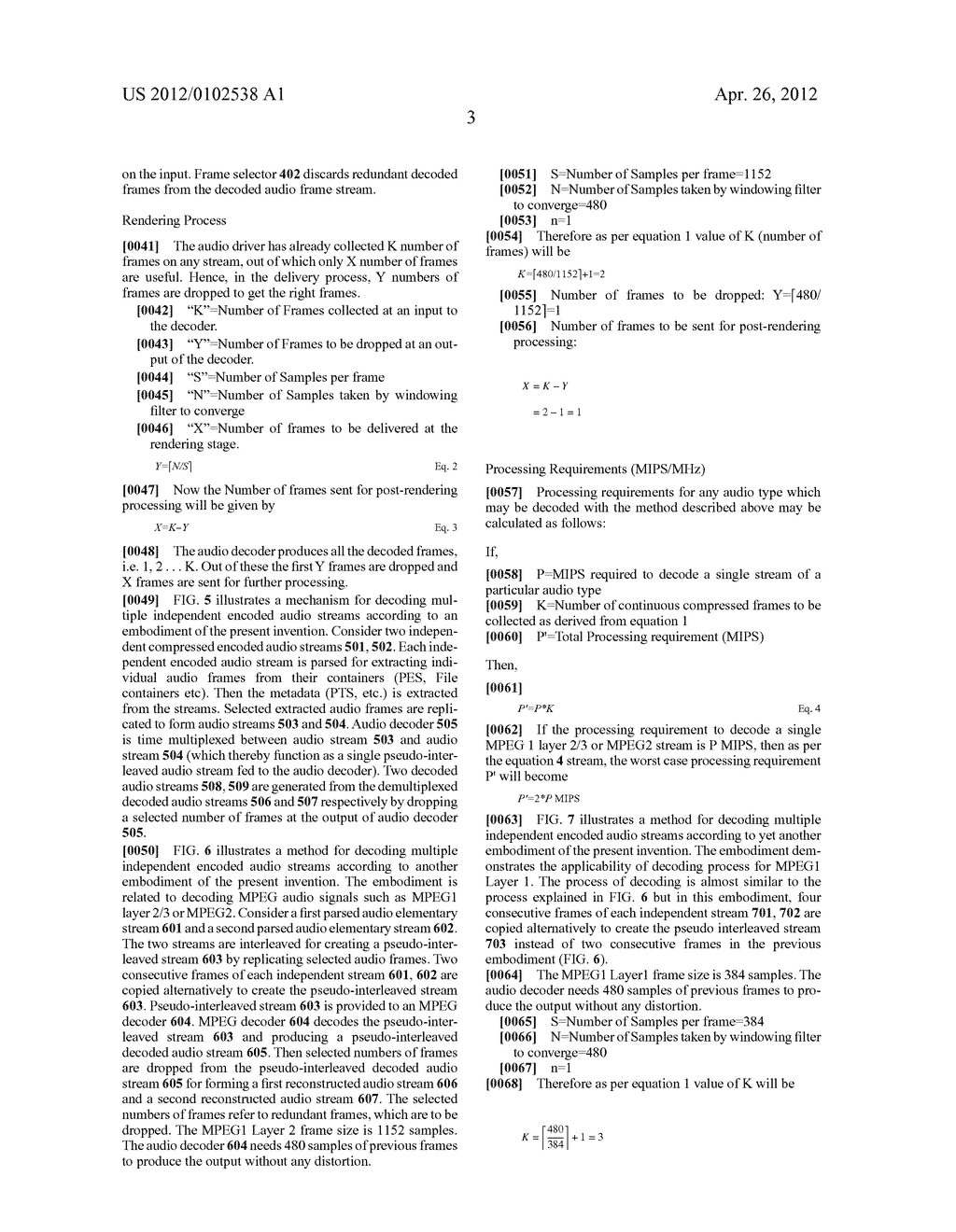 METHODS AND APPARATUS FOR DECODING MULTIPLE INDEPENDENT AUDIO STREAMS     USING A SINGLE AUDIO DECODER - diagram, schematic, and image 12
