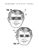 PRINTABLE FACIAL MASK AND PRINTABLE FACIAL MASK SYSTEM WITH ENHANCED     PERIPHERAL VISIBILITY diagram and image
