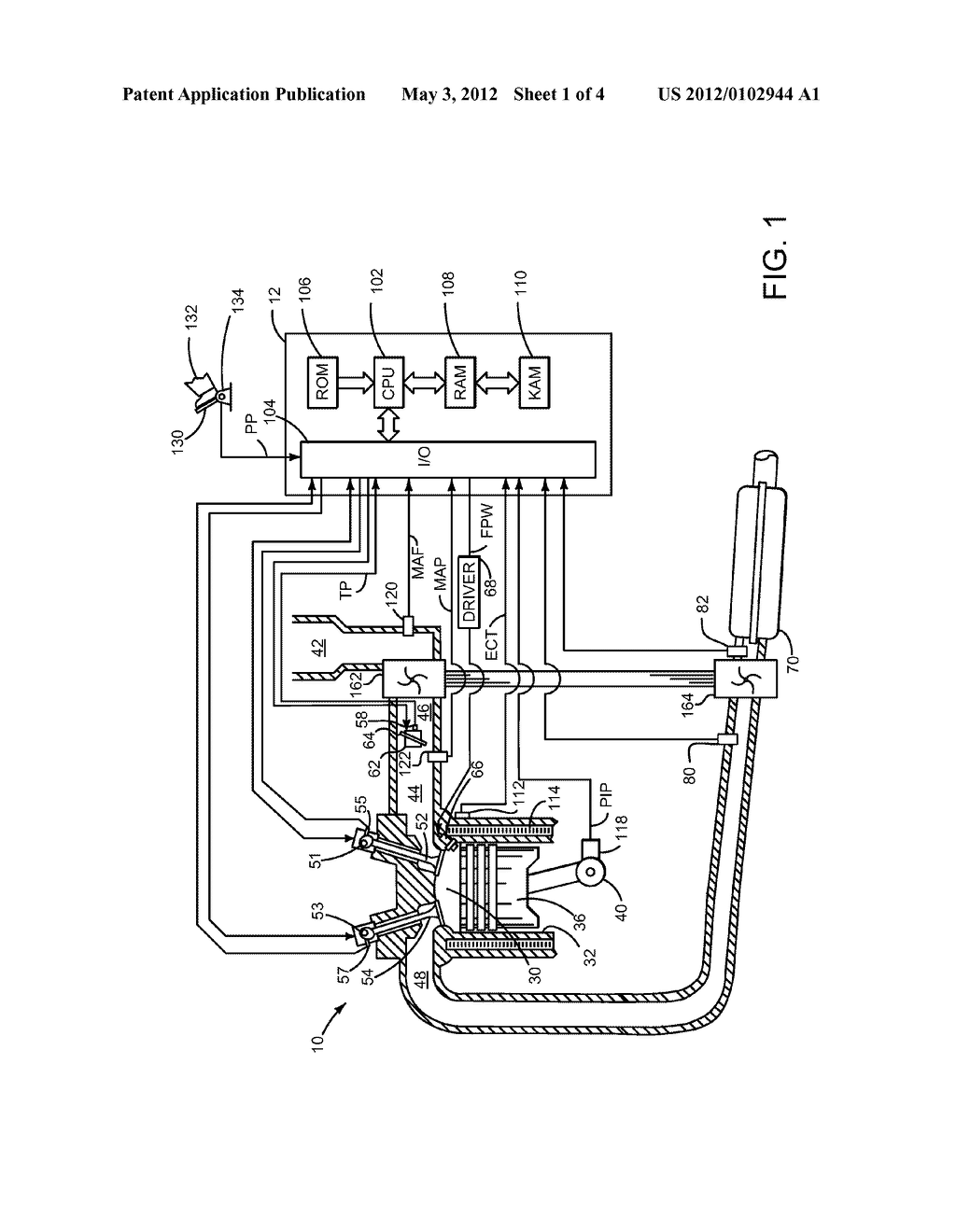 Method and System for Limiting Output of a Boosted Engine - diagram, schematic, and image 02