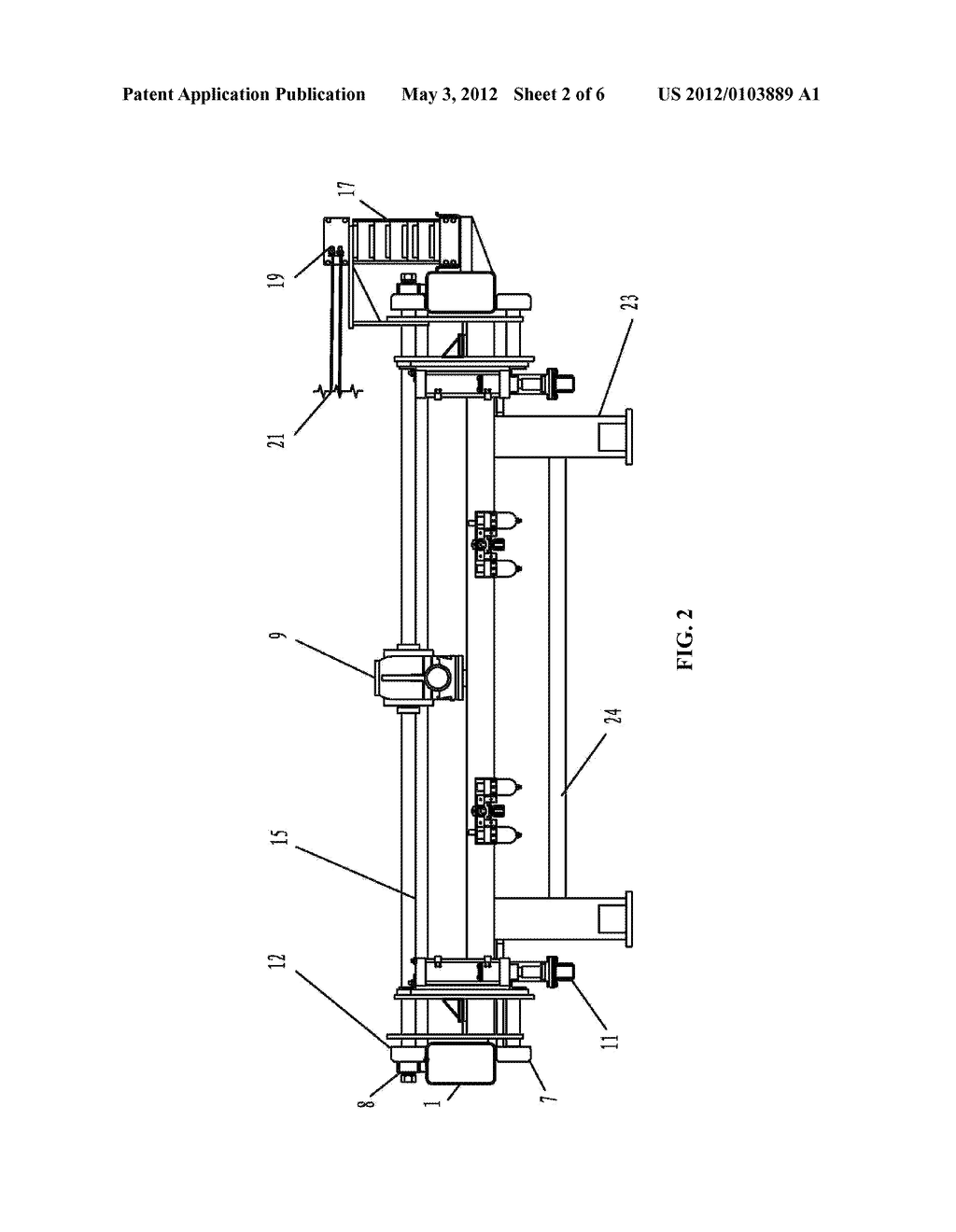 SHAKING DEVICE FOR FILTER PLATES OF FILTER PRESS - diagram, schematic, and image 03