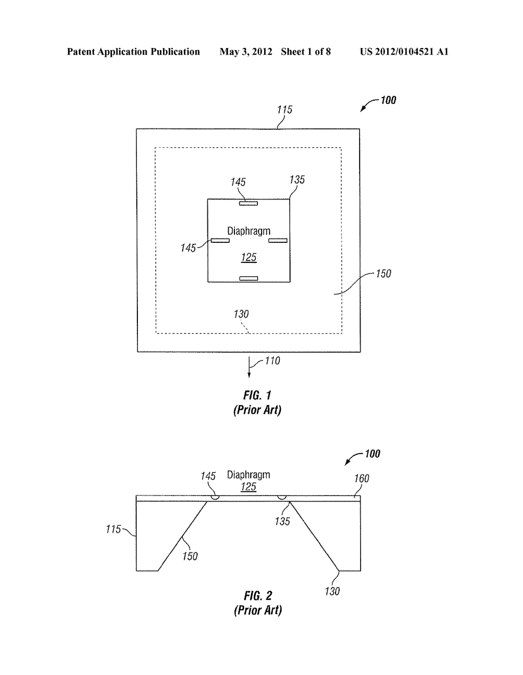 METHOD AND SYSTEM FOR ETCHING A DIAPHRAGM PRESSURE SENSOR - diagram, schematic, and image 02