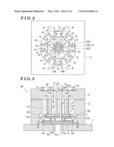 MOLDING METHOD AND MOLDING DEVICE FOR FORMING IMPELLER diagram and image