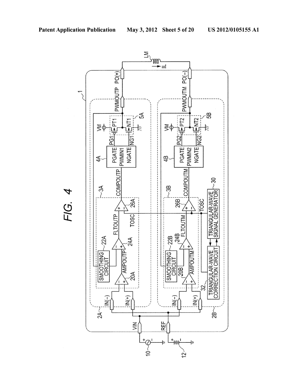 Pulse Width Modulation Circuit And Voltage Feedback Class D Amplifier Diagram Schematic Image 06