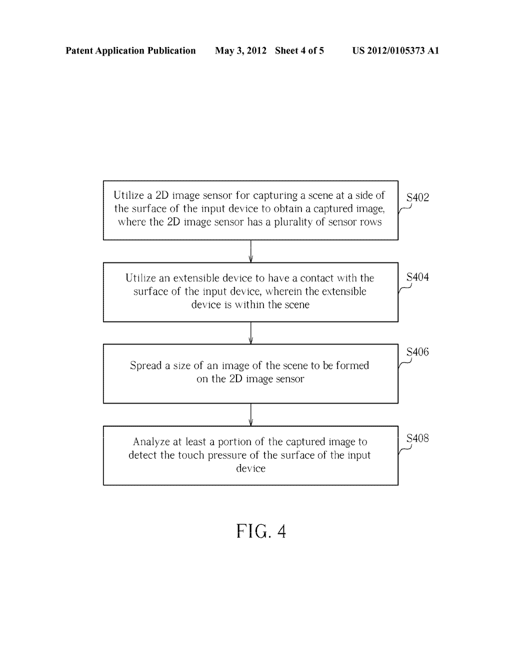 METHOD FOR DETECTING TOUCH STATUS OF SURFACE OF INPUT DEVICE AND INPUT     DEVICE THEREOF - diagram, schematic, and image 05