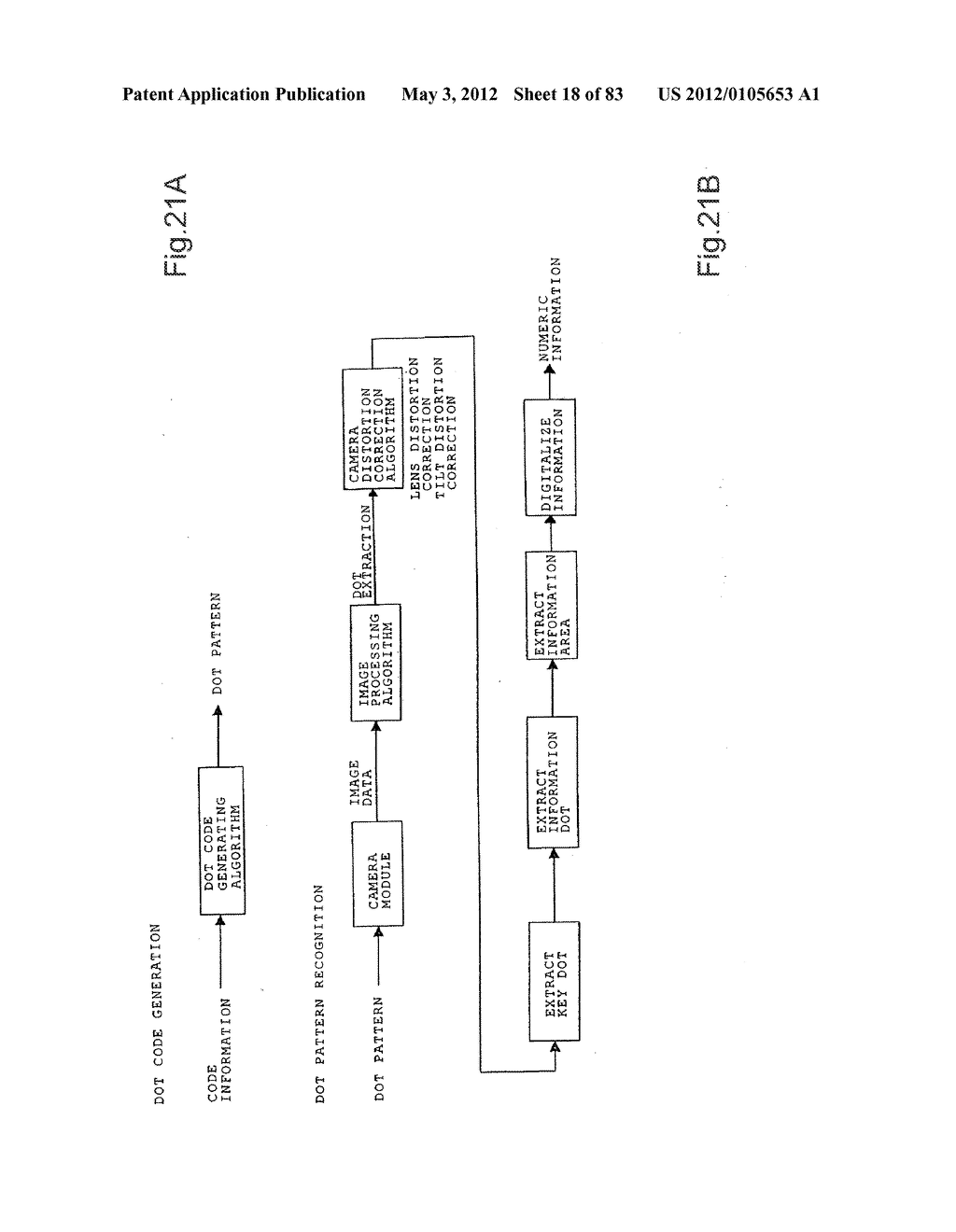 INFORMATION REPRODUCTION/I/O METHOD USING DOT PATTERN, INFORMATION     REPRODUCTION DEVICE, MOBILE INFORMATION I/O DEVICE, AND ELECTRONIC TOY     USING DOT PATTERN - diagram, schematic, and image 19