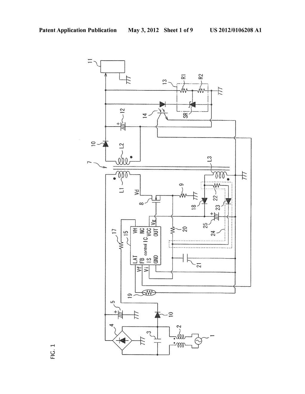 SEMICONDUCTOR CONTROL DEVICE FOR A SWITCHING REGULATOR AND A SWITCHING     REGULATOR USING THE SEMICONDUCTOR CONTROL DEVICE - diagram, schematic, and image 02