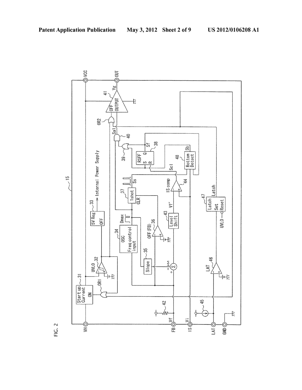 SEMICONDUCTOR CONTROL DEVICE FOR A SWITCHING REGULATOR AND A SWITCHING     REGULATOR USING THE SEMICONDUCTOR CONTROL DEVICE - diagram, schematic, and image 03