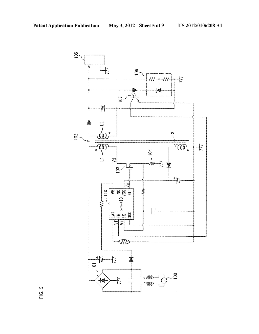 SEMICONDUCTOR CONTROL DEVICE FOR A SWITCHING REGULATOR AND A SWITCHING     REGULATOR USING THE SEMICONDUCTOR CONTROL DEVICE - diagram, schematic, and image 06