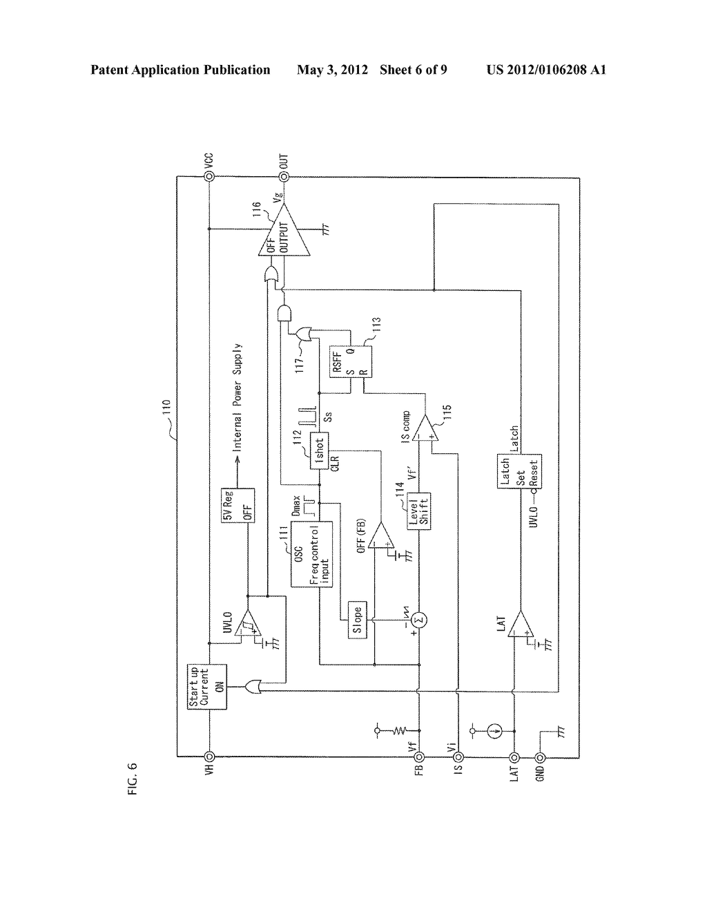 SEMICONDUCTOR CONTROL DEVICE FOR A SWITCHING REGULATOR AND A SWITCHING     REGULATOR USING THE SEMICONDUCTOR CONTROL DEVICE - diagram, schematic, and image 07