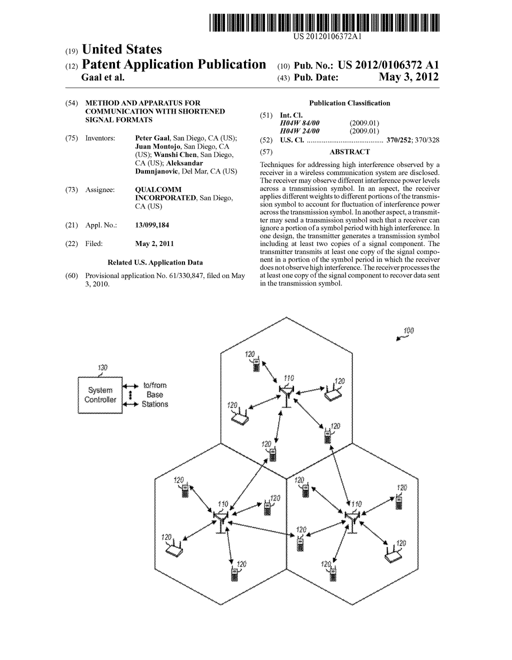 METHOD AND APPARATUS FOR COMMUNICATION WITH SHORTENED SIGNAL FORMATS - diagram, schematic, and image 01