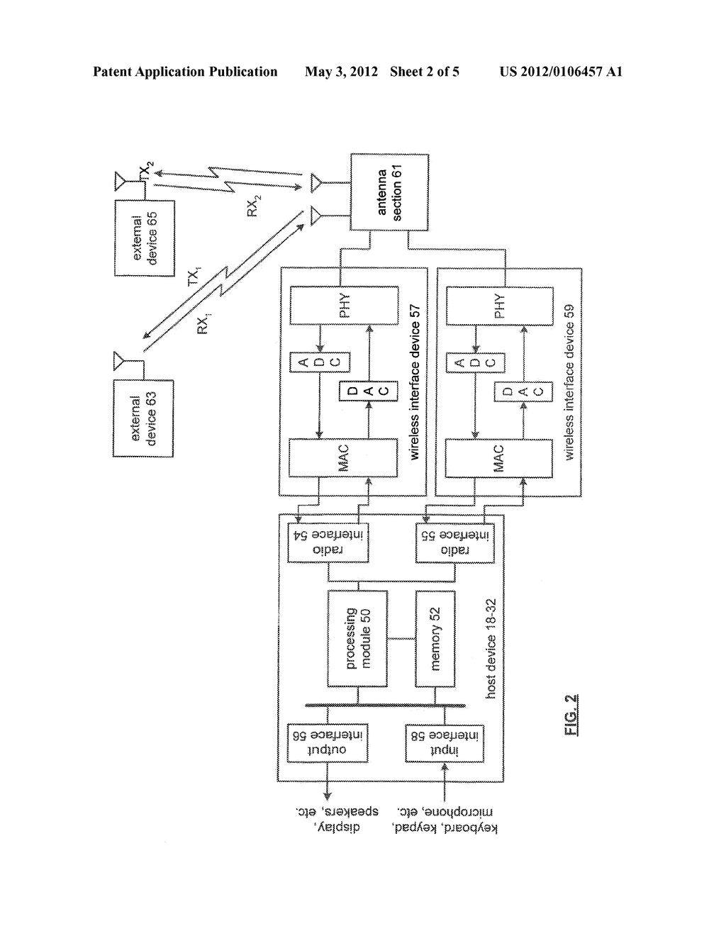 COOPERATIVE TRANSCEIVING BETWEEN WIRELESS INTERFACE DEVICES OF A HOST     DEVICE - diagram, schematic, and image 03