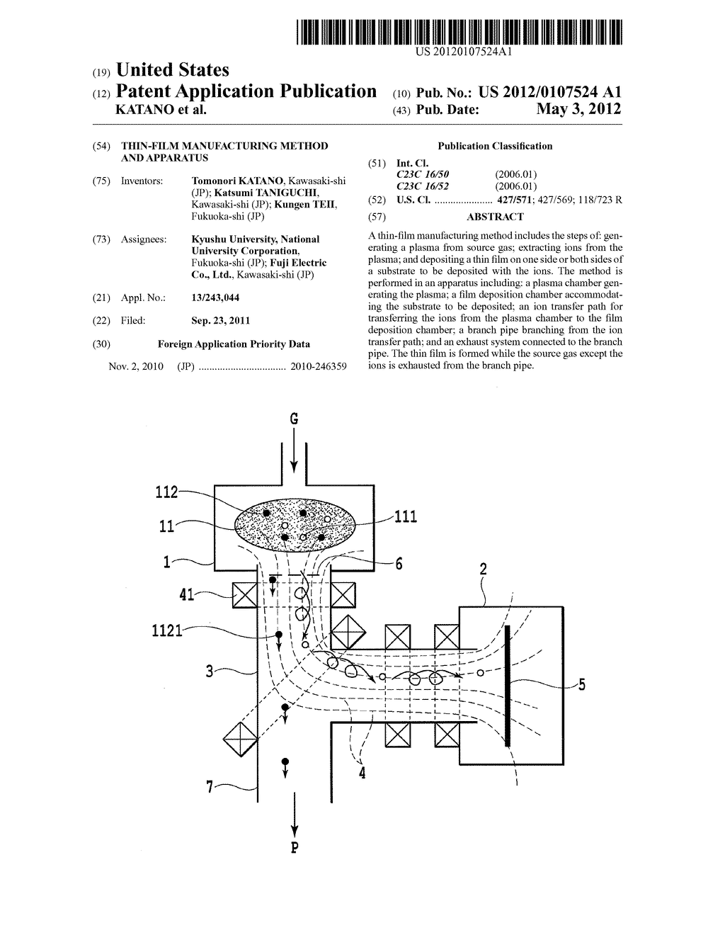 THIN-FILM MANUFACTURING METHOD AND APPARATUS - diagram, schematic, and image 01