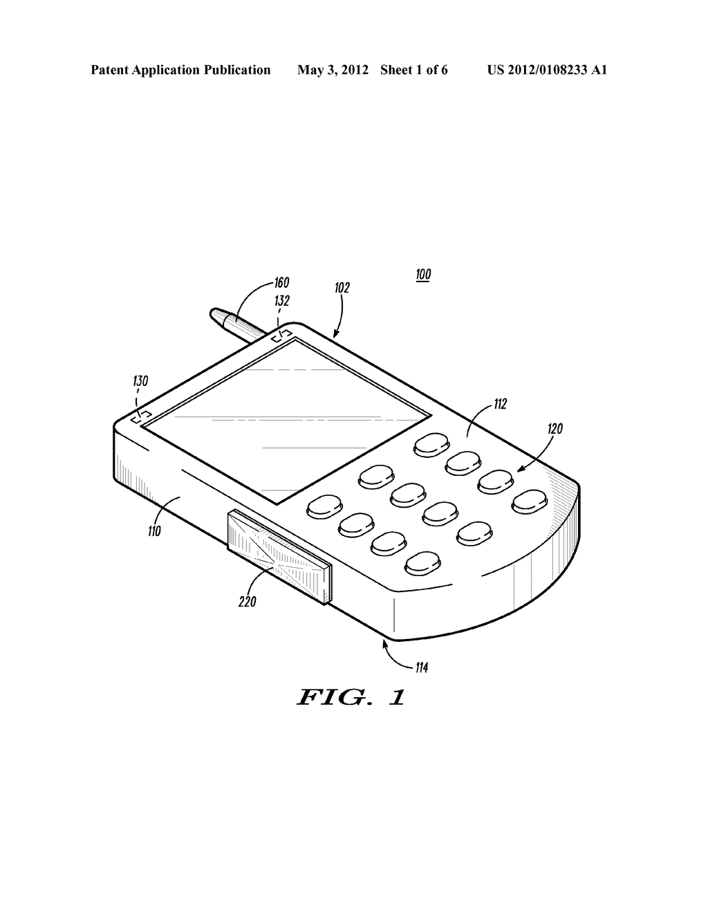 Hand-Held Communication Device with Auxiliary Input Apparatus and Method - diagram, schematic, and image 02