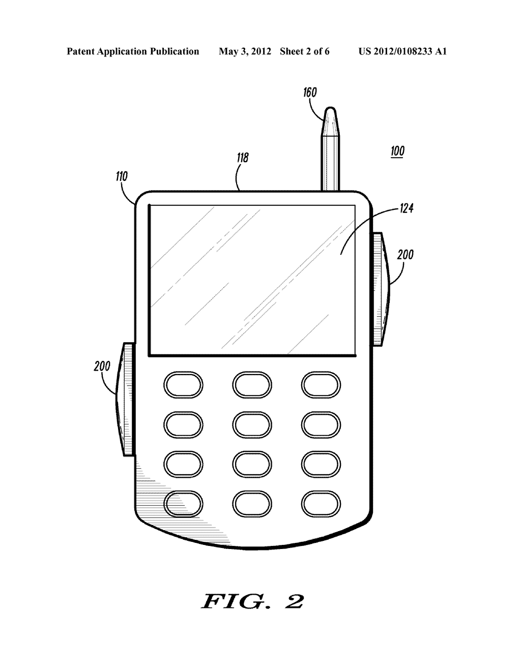 Hand-Held Communication Device with Auxiliary Input Apparatus and Method - diagram, schematic, and image 03