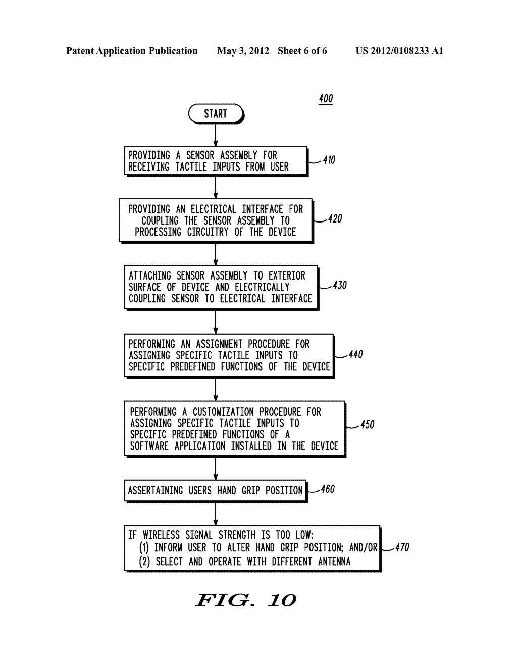 Hand-Held Communication Device with Auxiliary Input Apparatus and Method - diagram, schematic, and image 07