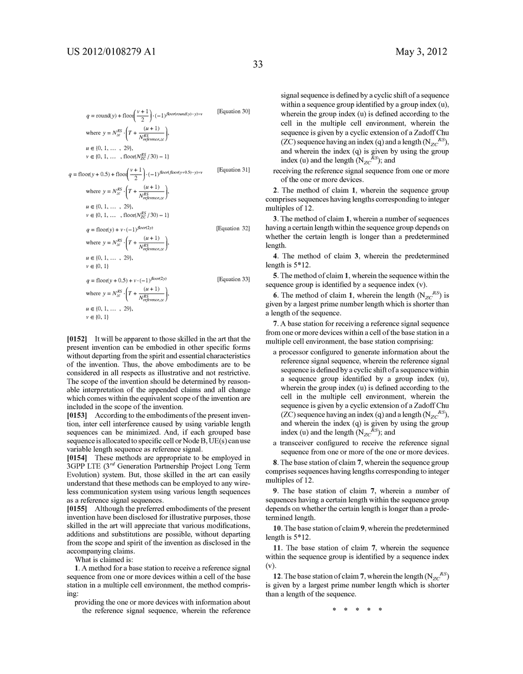 METHOD FOR GENERATING A REFERENCE SIGNAL SEQUENCE USING GROUPING - diagram, schematic, and image 38
