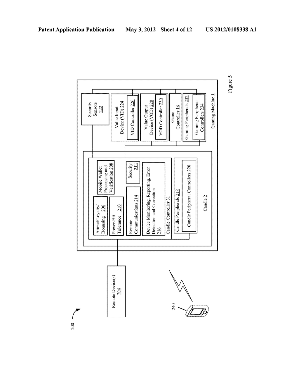 CANDLE DEVICE FOR GENERATING DISPLAY INTERFACES ON THE MAIN DISPLAY OF A     GAMING MACHINE - diagram, schematic, and image 05