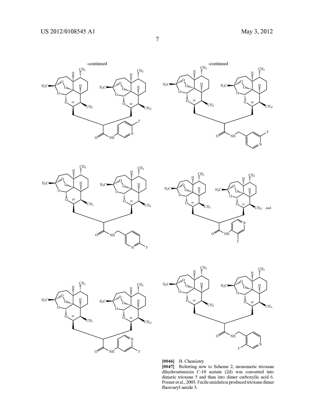 Trioxane Monomers and Dimers - diagram, schematic, and image 10