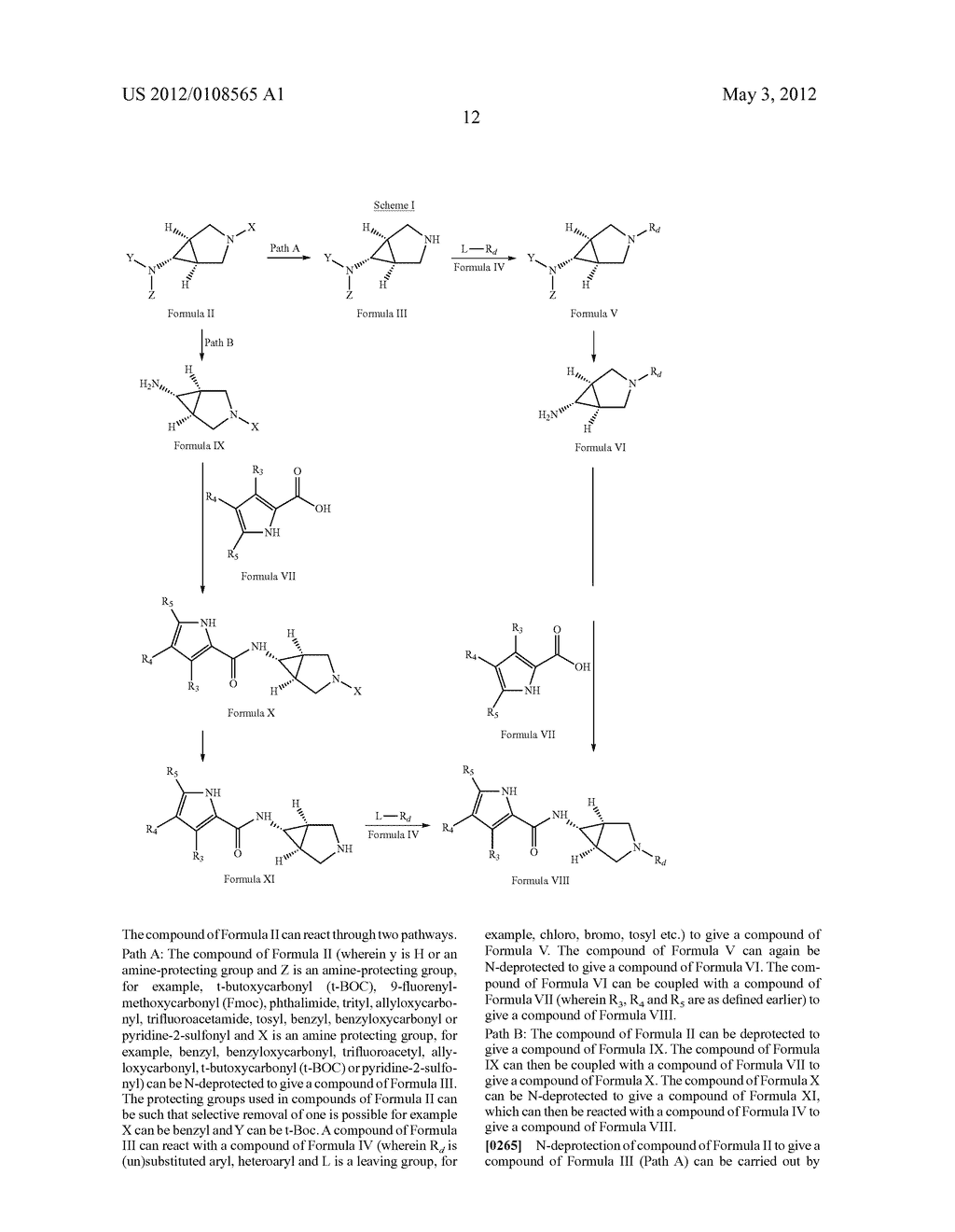 PYRROLE CARBOXYLIC ACID DERIVATIVES AS ANTIBACTERIAL AGENTS - diagram, schematic, and image 13